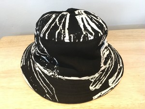Black Glass Printed Bucket Hat