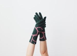 % PERCENT 手袋(CONFORTABLE:ダークグリーン・ピンク)裏起毛・スマホ対応・ギフト箱付き(男女兼用)