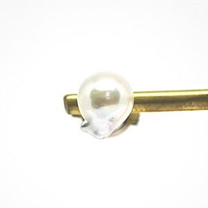 あこや本真珠の人魚のタイタックD  ピンズ ピンバッチ