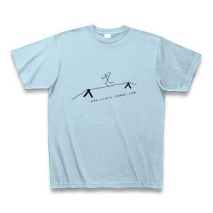 Slack-Frame Tシャツ #02 - ライトブルー