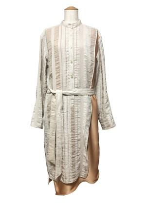 【 2020-2021a/w 】Ethnic jacquard shirt dress
