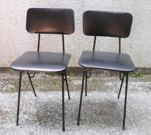 レトロな食堂椅子【黒】(0307102A)