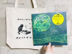 猫とレコード トートバッグ
