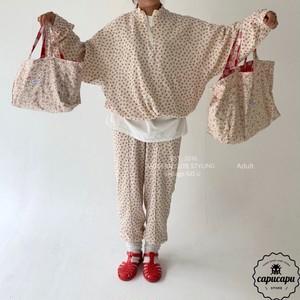 «予約»«mom»  go.u flower pants フラワーパンツ ママサイズ