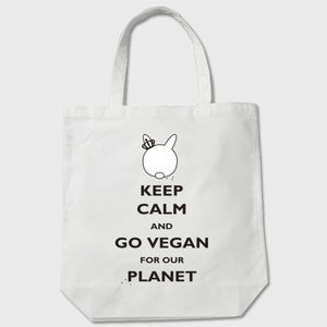 Go Vegan for our Planet - Black - Tote