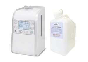 超音波噴霧器HM-201適用床面積約26畳用、200ppm 微酸性次亜塩素酸水「除菌ジアプラス」5Lセット ノズル付き
