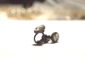 カメオイヤリング cpv025