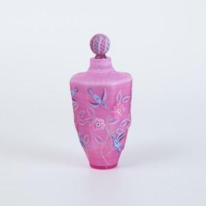 小禽唐草模様八角 香水瓶