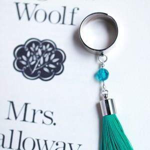 霧とリボン|ダロウェイ夫人のミドル・フィンガー・ブローチ(指輪)〜ミントの葉