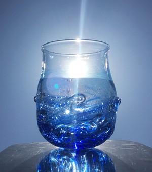 麻炭ガラス「さざなみぐらす〜海と空の間」(ヒマラヤ原種麻炭)/受注制作