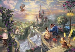 【ジグソーパズル】Beauty and the Beast Falling in Love (美女と野獣) 1000ピース