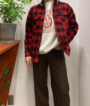 L.L.Bean made in USA  wool mix  buffalo check shirt【S位】