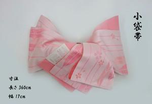 ☆90941☆小袋帯 小袋帯 横縞に桜模様 可愛い