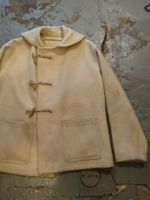 40s ROYAL NAVY SHAWL COLOR DUFFLE COAT
