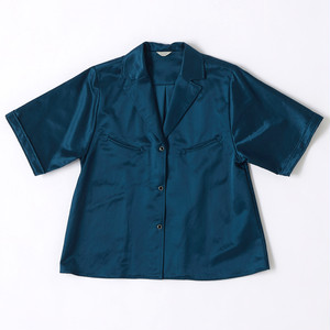 【FILL THE BILL】《WOMENS》SATIN WESTERN SHIRTS - MADONNA BLUE