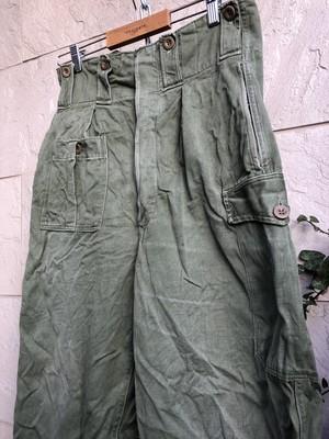 Used 〜1960s Belgium military trousers