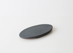 TSUKI フラットプレートオーバル 230(瓦食器・平皿・楕円)