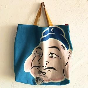 大漁旗リメイク2WAYバッグ「恵比寿さま」