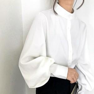 Band collar balloon sleeve blouse || バンドカラーバルーンスリーブブラウス || A90802