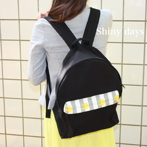 【受注製作】国産帆布のリュックサック/Lサイズ/ブラック