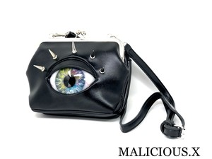 eye shoulder metal clasp bag / light rainbow