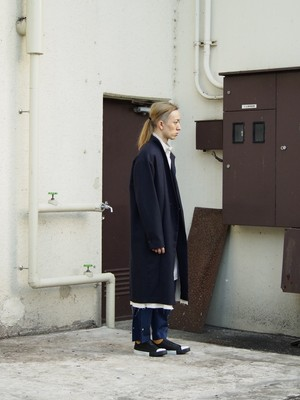 【SALE】rood RITUAL BIG COAT navy