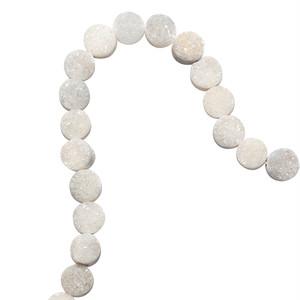 [天然石 パーツ]ドゥルージー カボション8mmラウンド(ホワイト) 1個 D0305