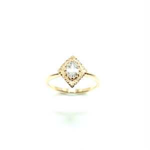 flora engraved diamond ring - 0.404ct