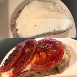 季節の品/ブラッドオレンジとクリームチーズのタルティーヌ