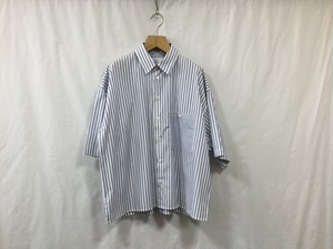 "bukht""LOOSE SHIRTS S/S-STRIPE FAB-Blue Stripe"""