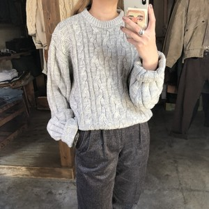 Big silhouette cable knit pullover