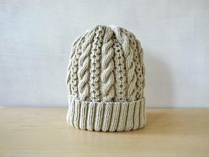 若葉色コットンウールのニット帽