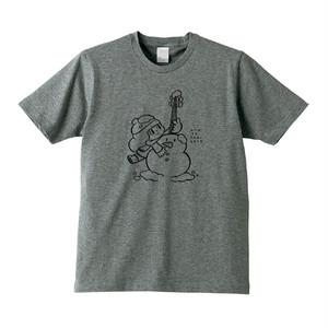 """マムアンちゃん""""雪だるま""""Tシャツ(グレー)"""