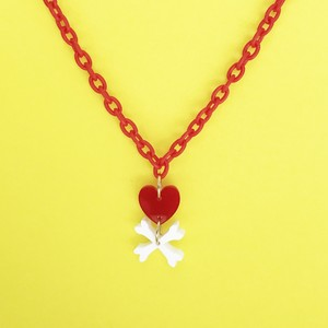 HEART BONES NECKLACE-red / c-hb002rd