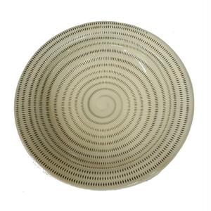 小石原焼 7.5寸兜皿 トビカンナ 上鶴窯