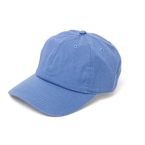 コットン ベースボールキャップ ブルー