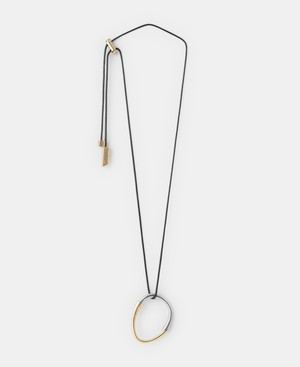 MATTE DOUBLE RING NECKLACE [226041875102]