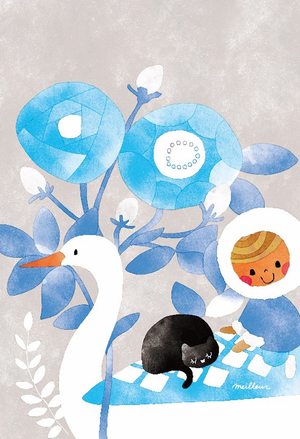 ポストカード「氷の花をくぐり抜けて」