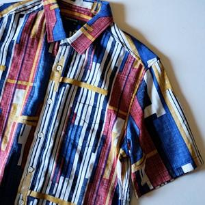 【hanakazari】multi stripe back use s/s shirt