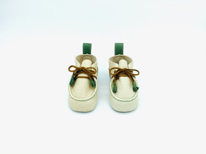 "Baby shoes tanned Yezo deer ""type green"""