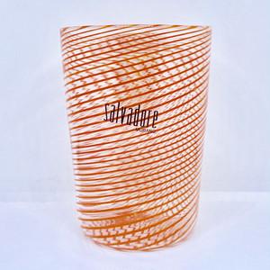 Item057  【再入荷】ヴェネチアングラス フィリグラーナグラス ロング オレンジ
