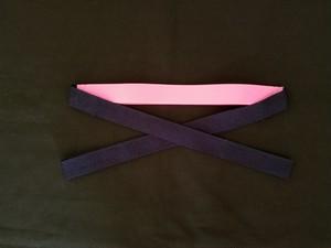 自装用カラー三重紐 ピンク ネイビー