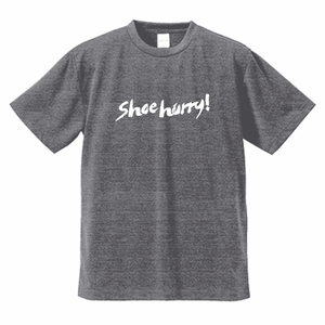 SHOEHURRY! DRY T-SHIRTS ドライTシャツ(ヘザーチャコール/ホワイト)