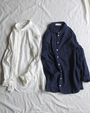 【SARAXJIJI】Wガーゼ オーディナリーシャツ Wgauze ordinary shirts / サラジジ