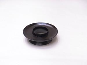 山中塗 木製 くりぬき 天目茶台 ケヤキ材 4.2寸 黒