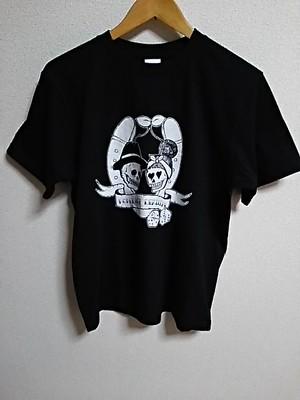 オリジナルTシャツ-black-L