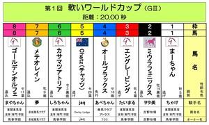 <第1回 軟いワールドカップ(GⅢ20.00秒)>おひねり全頭BOX