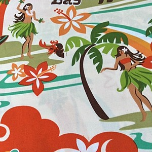 USA Cotton Hawaiian Fabric     Hulaガール