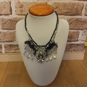 n102 crystal navy cord necklace