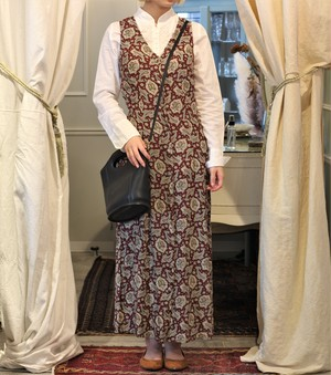 USA VINTAGE PAISLEY PATTEPNED NO SLEEVE ONE PIECE/アメリカ古着ペイズリー柄ノースリーブワンピース